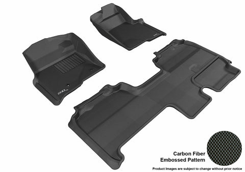 3D MAXpider L1FR07401509 FORD F-150 2010-2014 SUPERCAB KAGU BLACK R1 R2 (2 POSTS, WITH HEATING DUCT, NOT FIT 4X4 M/T FLOOR SHIFTER, TRIM TO FIT SUBWOOFER)