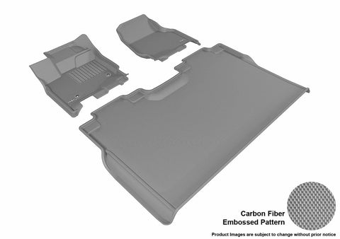 3D MAXpider L1FR08301501 FORD F-150 2015-2018 SUPERCREW KAGU GRAY R1 R2 (2 EYELETS, NOT FIT 4X4 M/T FLOOR SHIFTER)