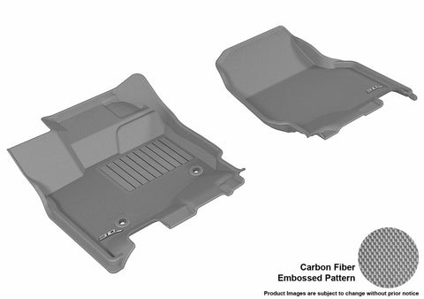 3D MAXpider L1FR08311501 FORD F-150 2015-2018 SUPERCREW KAGU GRAY R1 (2 EYELETS, NOT FIT 4X4 M/T FLOOR SHIFTERS)