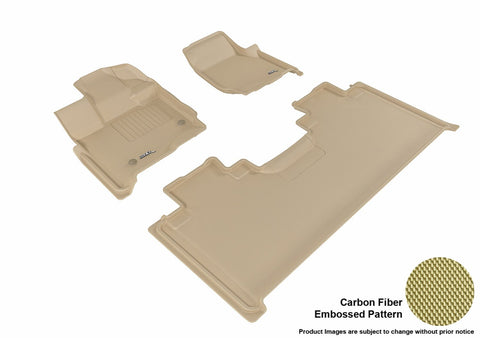 3D MAXpider L1FR10101502 FORD F-150 2015-2018 SUPERCAB KAGU TAN R1 R2 (2 EYELETS, NOT FIT 4X4 M/T FLOOR SHIFTER)