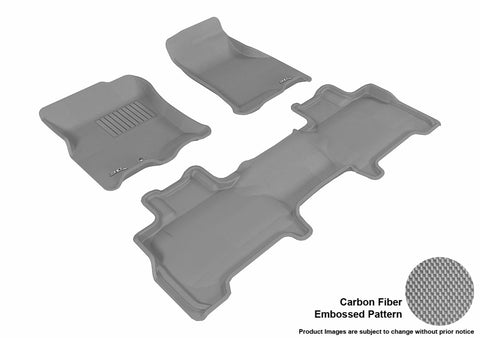 3D MAXpider L1LC00401501 LINCOLN NAVIGATOR 2007-2010 KAGU GRAY R1 R2 BUCKET SEAT WITH CENTER CONSOLE