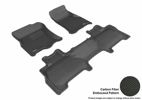 3D MAXpider L1LC00401509 LINCOLN NAVIGATOR 2007-2010 KAGU BLACK R1 R2 BUCKET SEAT WITH CENTER CONSOLE