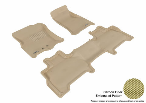 3D MAXpider L1LC00501502 LINCOLN NAVIGATOR 2011-2017 KAGU TAN R1 R2 BUCKET SEAT WITH CENTER CONSOLE