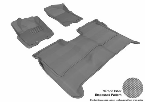 3D MAXpider L1NS06301501 NISSAN TITAN 2009-2015 CREW CAB KAGU GRAY R1 R2 (WITHOUT STORAGE BOX)