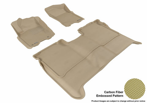 3D MAXpider L1NS06301502 NISSAN TITAN 2009-2015 CREW CAB KAGU TAN R1 R2 (WITHOUT STORAGE BOX)
