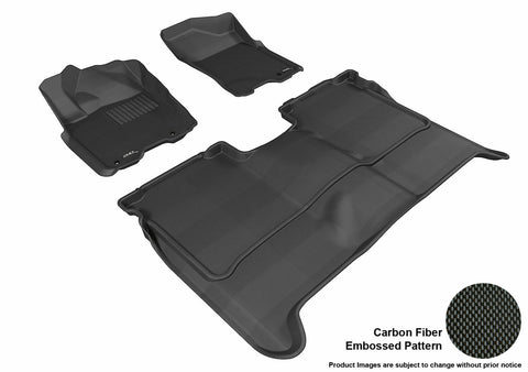 3D MAXpider L1NS06301509 NISSAN TITAN 2009-2015 CREW CAB KAGU BLACK R1 R2 (WITHOUT STORAGE BOX)