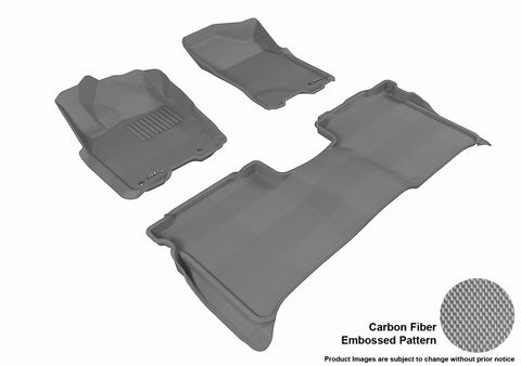3D MAXpider L1NS06701501 NISSAN TITAN 2009-2015 CREW CAB KAGU GRAY R1 R2 (WITH STORAGE BOX)