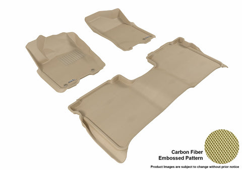 3D MAXpider L1NS06701502 NISSAN TITAN 2009-2015 CREW CAB KAGU TAN R1 R2 (WITH STORAGE BOX)