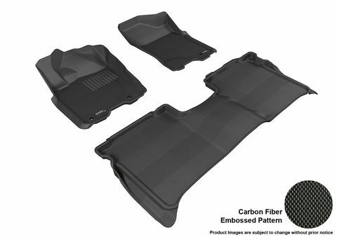3D MAXpider L1NS06701509 NISSAN TITAN 2009-2015 CREW CAB KAGU BLACK R1 R2 (WITH STORAGE BOX)