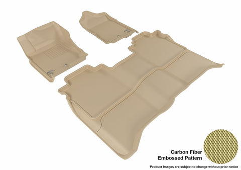 3D MAXpider L1NS08401502 NISSAN TITAN 2016-2018 CREW CAB KAGU TAN R1 R2 (WITHOUT STORAGE BOX)