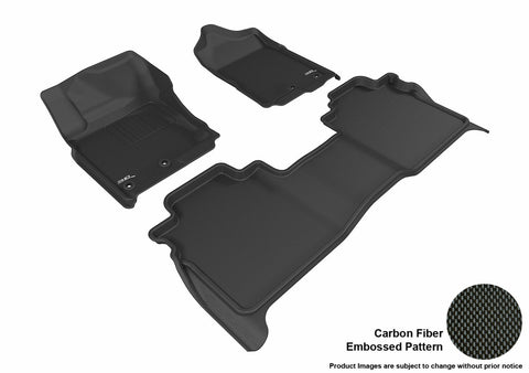 3D MAXpider L1NS08501509 NISSAN TITAN 2016-2018 CREW CAB KAGU BLACK R1 R2 (WITH STORAGE BOX)