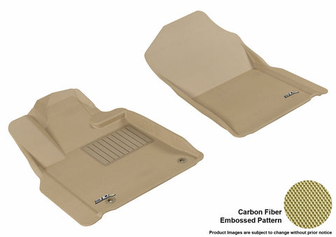 3D MAXpider L1TY14711502 TOYOTA TUNDRA 2007-2011 REGULAR CAB/ DOUBLE CAB/ CREWMAX/ SEQUOIA 2008-2011 KAGU TAN R1 (HOOKS)