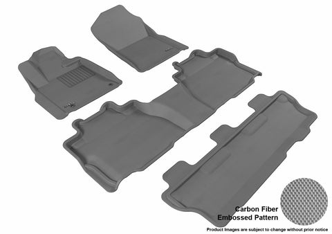 3D MAXpider L1TY15201501 TOYOTA SEQUOIA 2012-2018 KAGU GRAY R1 R2 R3 (BENCH SEAT)