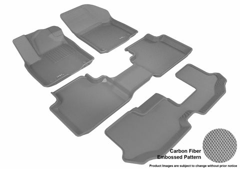 3D MAXpider L1VW08401501 VOLKSWAGEN ATLAS 2018 KAGU GRAY R1 R2 R3 (BENCH 2ND ROW)