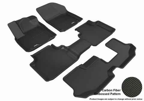 3D MAXpider L1VW08401509 VOLKSWAGEN ATLAS 2018 KAGU BLACK R1 R2 R3 (BENCH 2ND ROW)