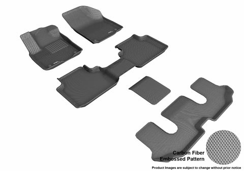 3D MAXpider L1VW08801501 VOLKSWAGEN ATLAS 2018 KAGU GRAY R1 R2 R3 (BUCKET 2ND ROW)