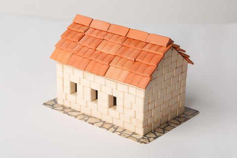 WISE ELK Mini bricks OLD TOWN construction set - Tile roof house, 315 pcs, White