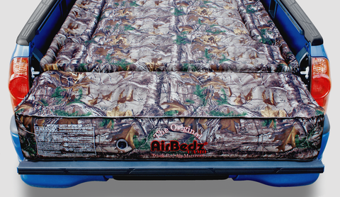 Pittman Outdoors AirBedz Realtree Camouflage Short Bed with Built-in Rechargeable Battery Air Pump & Tailgate Extension Air Matress