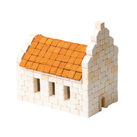 WISE ELK Mini bricks OLD TOWN construction set - Church, 430 pcs, White