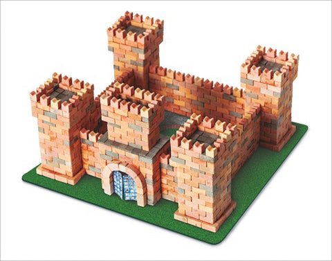 WISE ELK Mini bricks CASTLE construction set - Dragon's Castle, 1080 pcs, Red