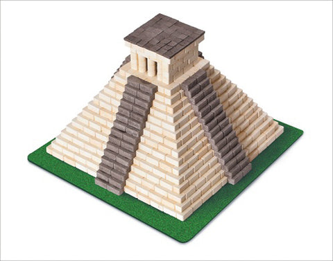 WISE ELK Mini bricks FAMOUS PLACES construction set - Mayan Pyramid, 750 pcs, Black&White
