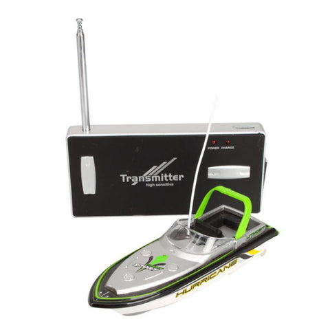 Green Radio Remote Control Super Mini Speed Boat with Dual Motor
