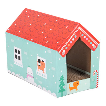 Pet Cat Scratching Board Corrugated Paper Cat House Grinding Claws Device Cat Box