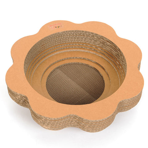 Pet Corrugated Paper Cat Catchers Cat Litter Board Cat Gripper Bowl Type Cat Claw