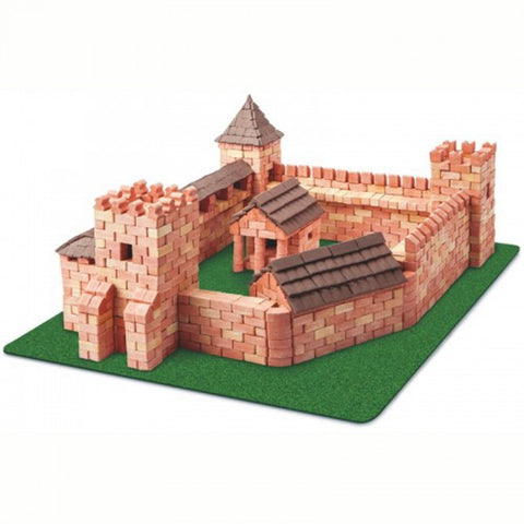 WISE ELK Mini bricks CASTLE construction set - Red Castle, 1800 pcs