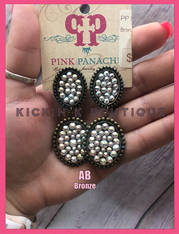 Pink Panache Small Oval Stacked Earring