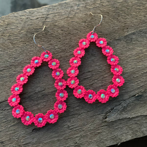 Sassy Sista Pink Earrings