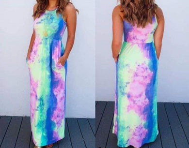 Tye-dye Pocket Maxi Dress