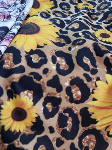 Wild sunflower capri leggings