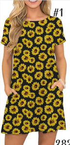 Pocket sunflower dress