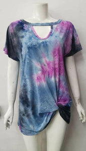 Tye-dye knot top