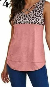 Pink Beauty Animal print Tank