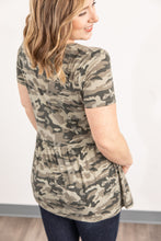 IN STOCK Sarah Ruffle Top - Camo
