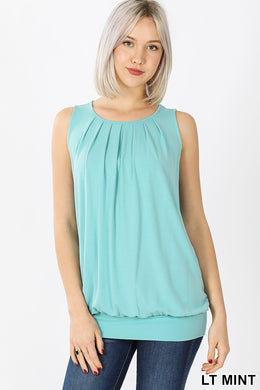 Light mint slouchy tank