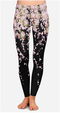 Black floral leggings