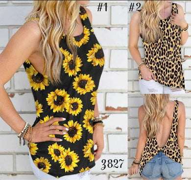 Backless knot sunflower top