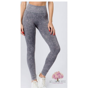 Acid wash athletic pants