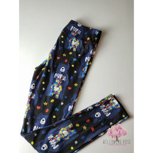 Autism mama bear leggings