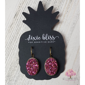 Berry Druzy Earrings