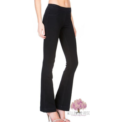 Black Bootcut Jeggings - Jeggings