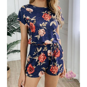 ,sassy-chic-clothing-boutique,Blue floral romper,Sassy Chic Clothing Boutique