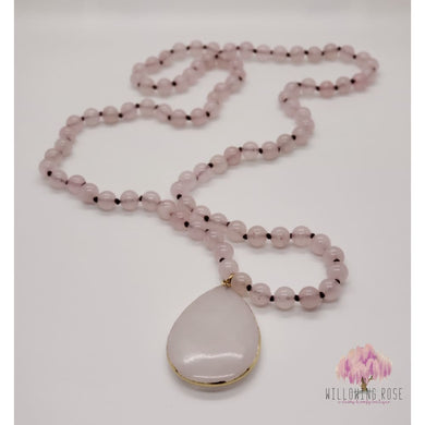 ,sassy-chic-clothing-boutique,Blush pink beaded stone Necklace,Willowing Rose Boutique! Formerly Sassy Chic Clothing Boutique