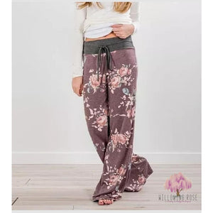 ,sassy-chic-clothing-boutique,Burgundy floral  lounge pants,Sassy Chic Clothing Boutique