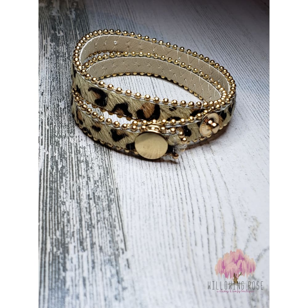 bracelet,sassy-chic-clothing-boutique,Cheetah wrap bracelet,Willowing Rose Boutique! Formerly Sassy Chic Clothing Boutique