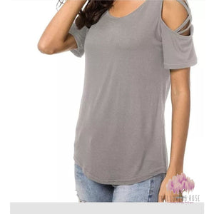 ,sassy-chic-clothing-boutique,Crisscross grey top,Sassy Chic Clothing Boutique