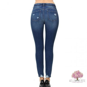 Distressed Butt Lifting jeggings - jeggings